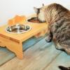 comedero estilo rústico gato