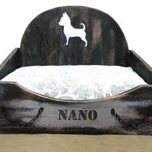 cama personalizable silueta perro