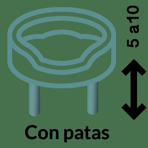 Con patas (de 05 a 10 cm)